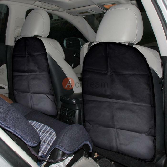 2 pack car auto seat back protector cover for children kick mat mud clean black ebay. Black Bedroom Furniture Sets. Home Design Ideas