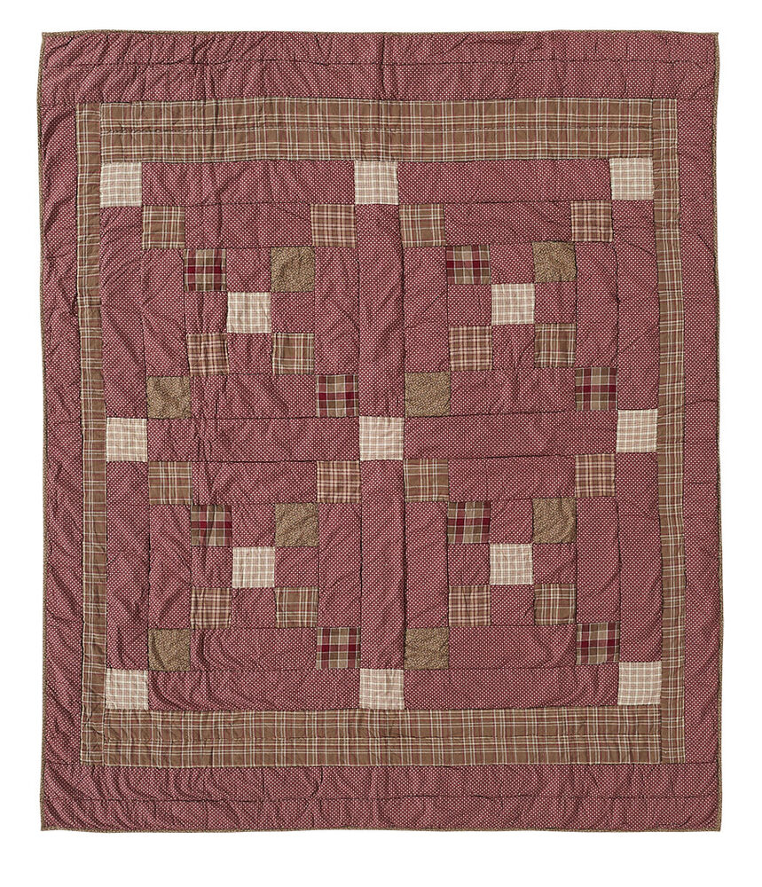 Irish Chain Quilt Pattern History : EVERSON QUILTED THROW BLANKET 50X60