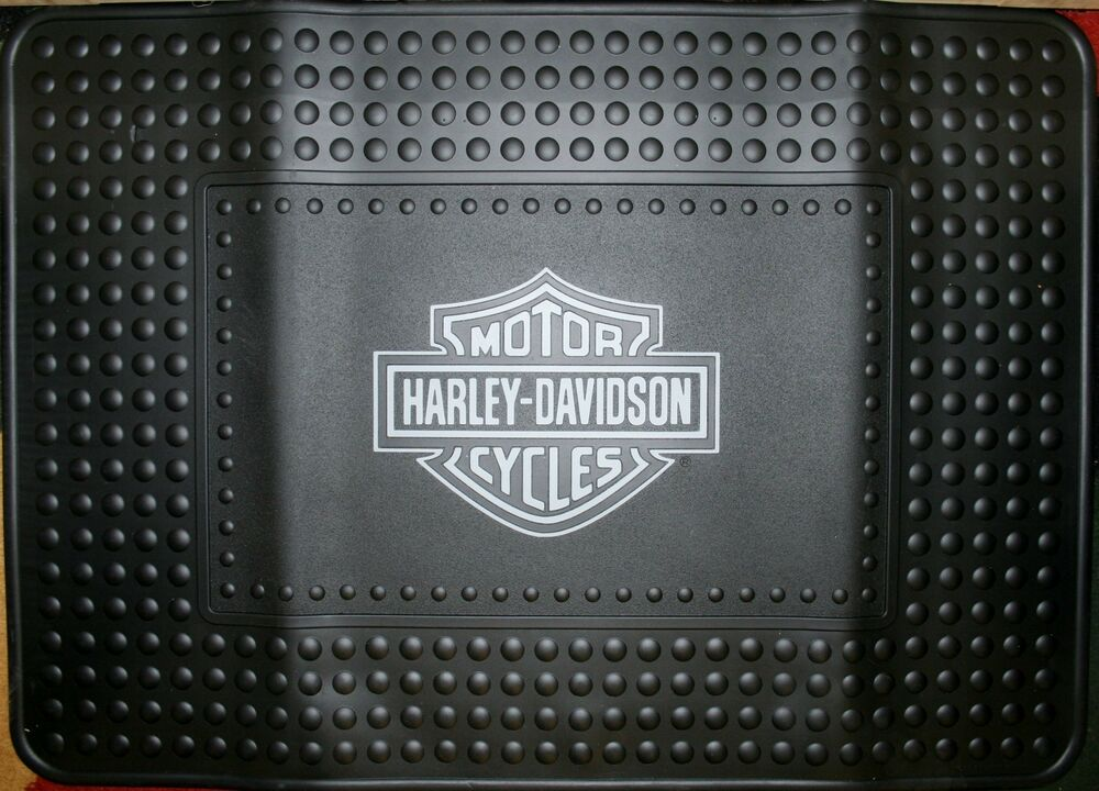 Harley Davidson Shield Mat Welcome Shop Garage Cargo Suv