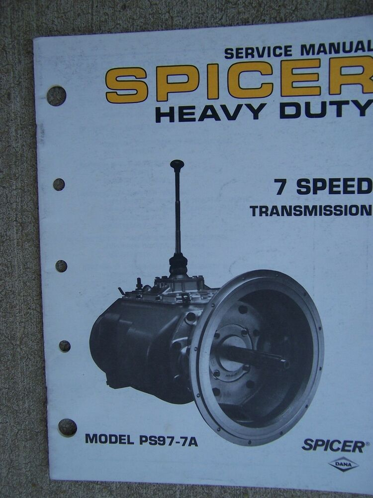 1989 Spicer Heavy Duty 7 Speed Transmission Model Ps97