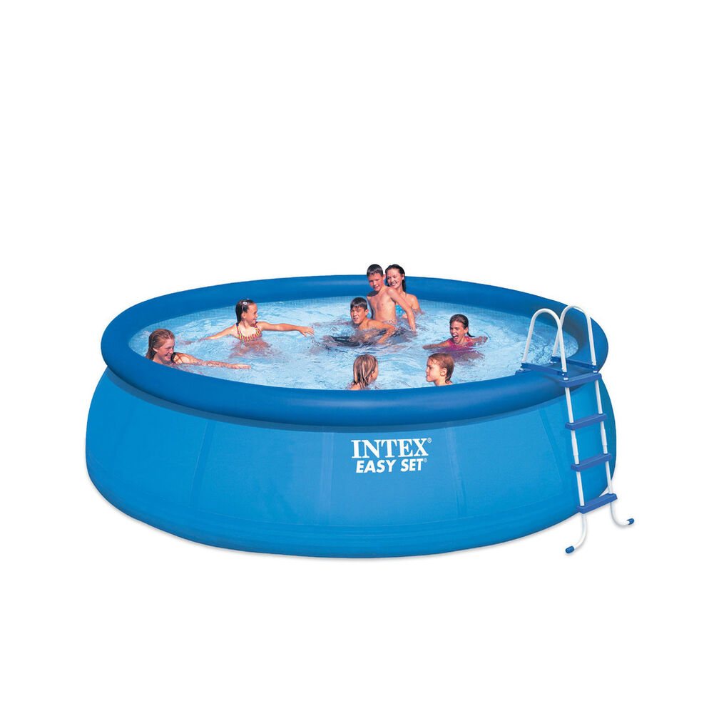 Intex 15 39 x48 above ground easy set inflatable swimming pool set with pump ebay Intex inflatable swimming pool