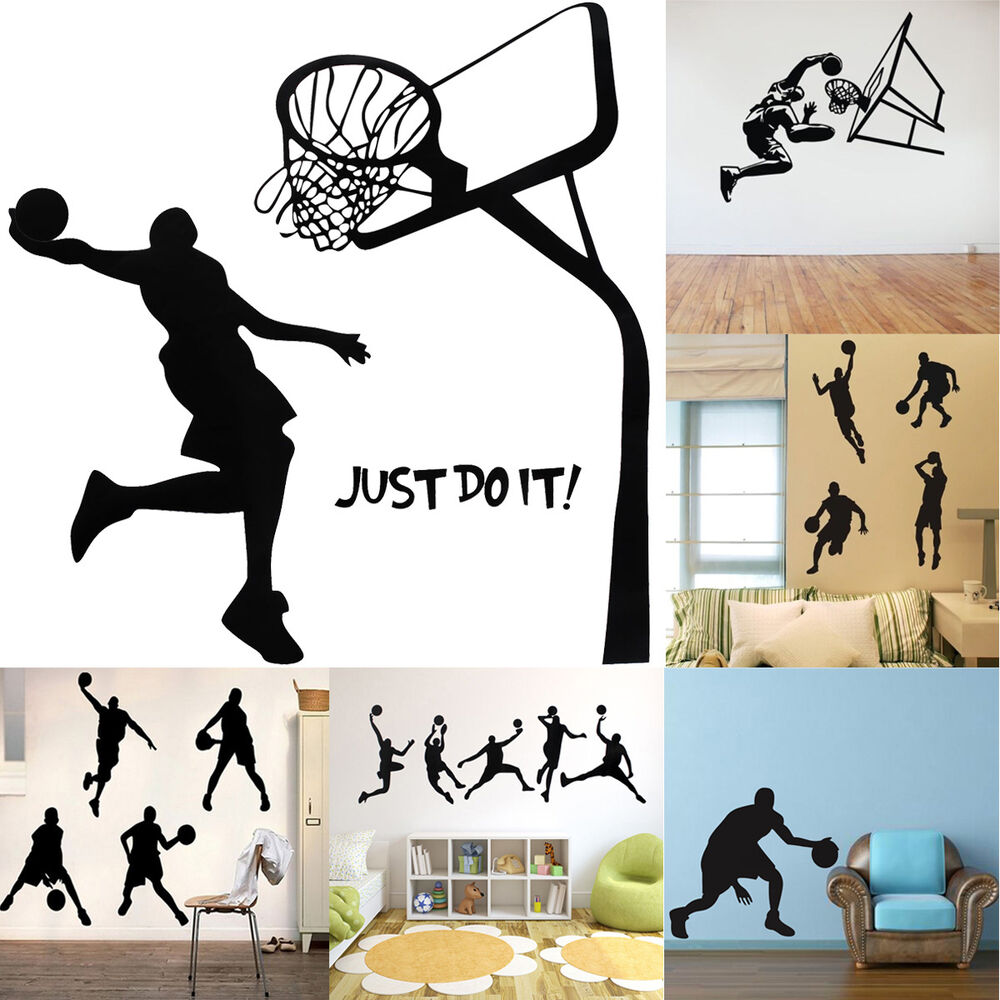 DIY Basketball Sports Removable Wall Stickers Decal Home ...