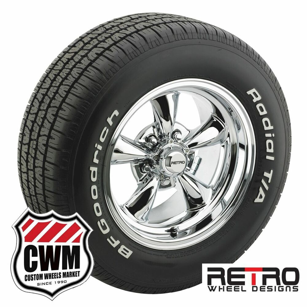 15 inch 15x8 retro polished wheels rims bfg tires for dodge dart 67 76 ebay. Black Bedroom Furniture Sets. Home Design Ideas