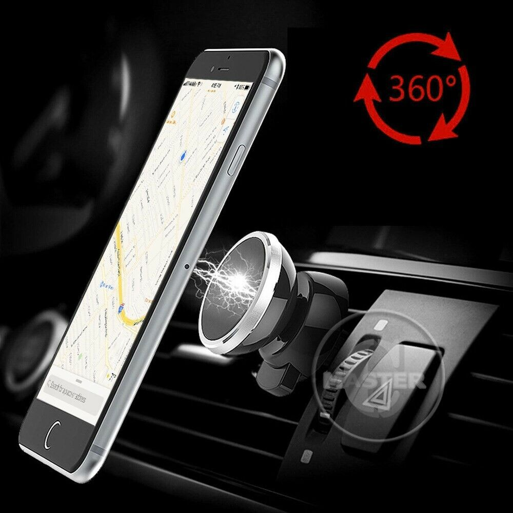 swivel quick attach magnetic holder car mount for iphone. Black Bedroom Furniture Sets. Home Design Ideas
