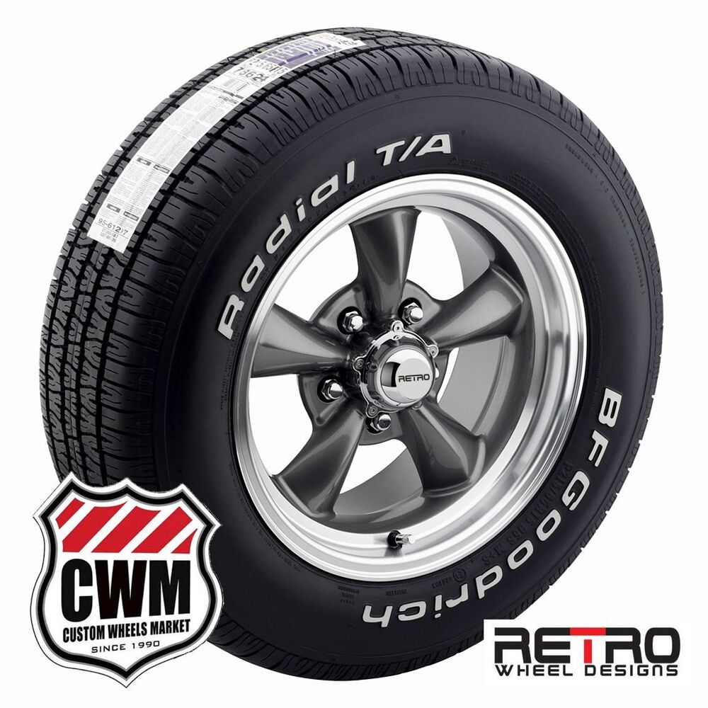 15 inch wheels staggered gray rims tires for chevy impala 58 70 ebay. Black Bedroom Furniture Sets. Home Design Ideas