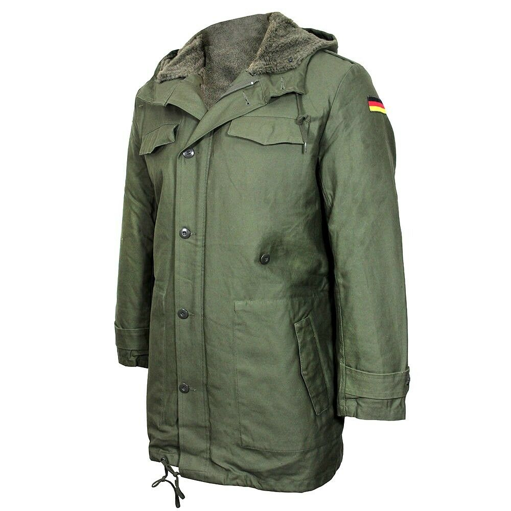 Repro GERMAN ARMY PARKA with Removable Liner - OLIVE GREEN Jacket ...