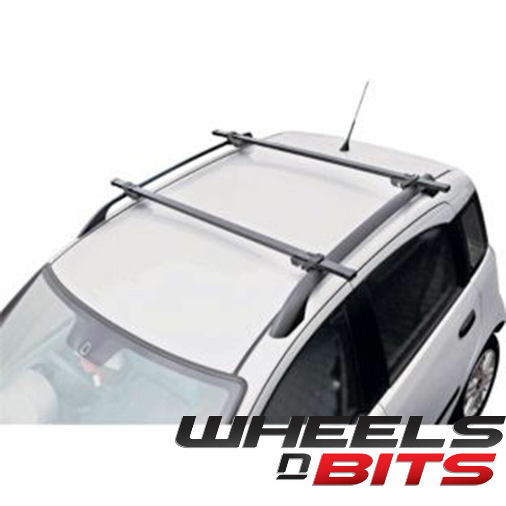 locking car roof bars for cars with rails rack fitted lockable ebay