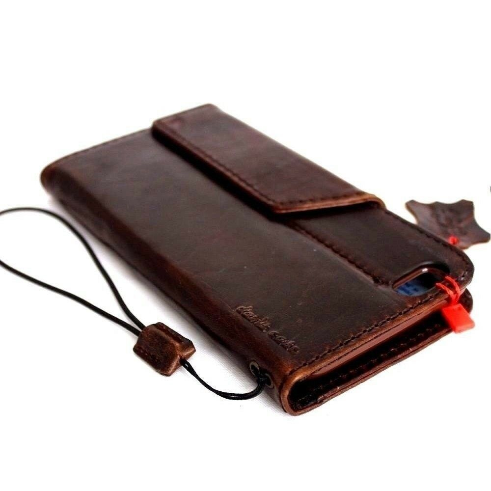 Old Leather Book Iphone Cover : Genuine vintage leather case for apple iphone s plus