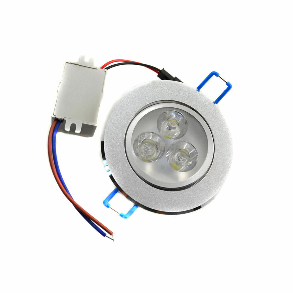 dimmable 3w led ceiling recessed downlight fixture lamp spot light driver white ebay. Black Bedroom Furniture Sets. Home Design Ideas