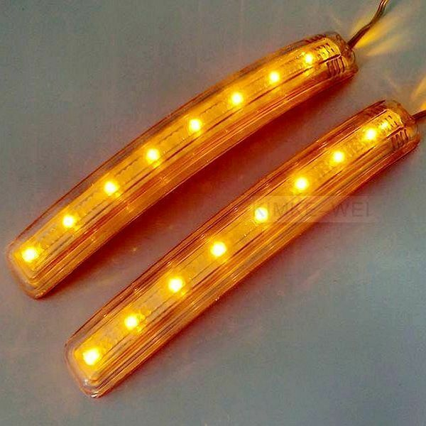 2 x 8 led car turn signal indicator mirror light amber ebay. Black Bedroom Furniture Sets. Home Design Ideas