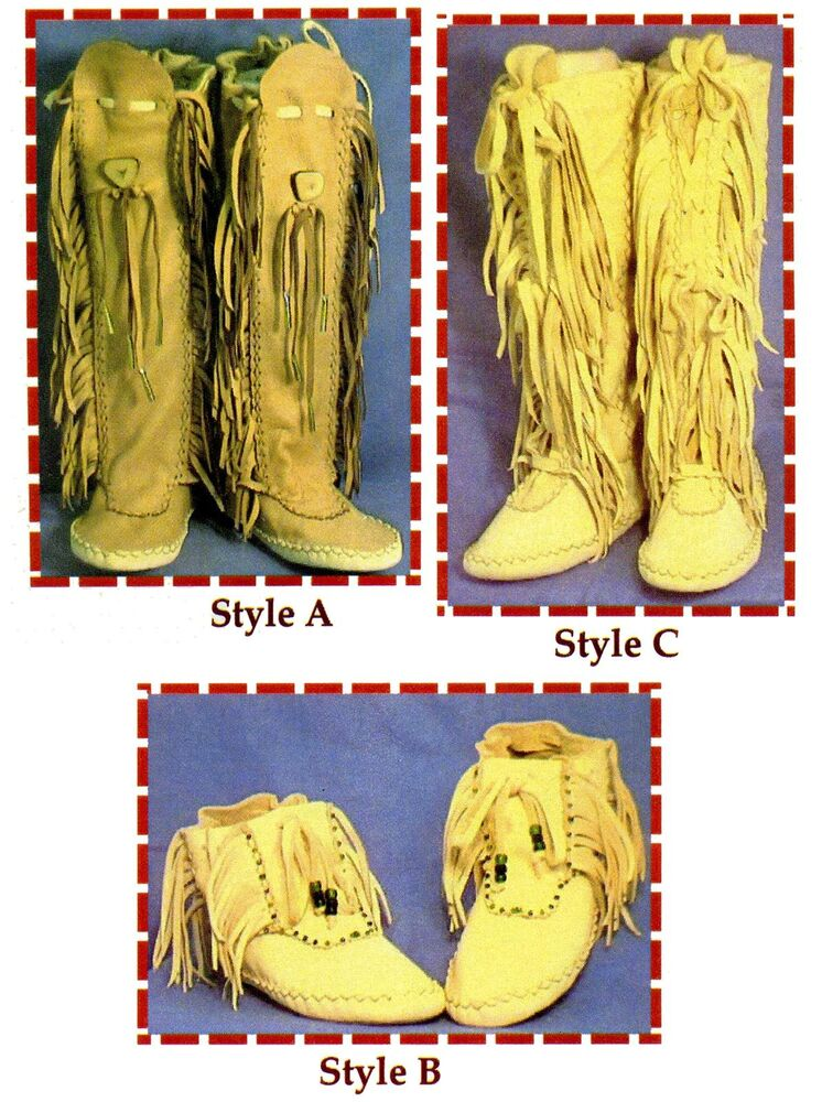 Native American Shawnee Indian Moccasin Sewing Pattern