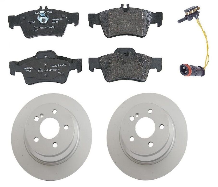 Mercedes w211 e320 e350 e500 rear complete brake kit for Mercedes benz rotors and pads