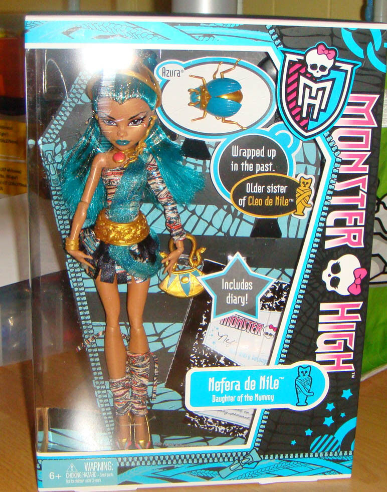 Monster high nefera de nile 1st wave doll nrfb mh002 ebay - Nefera de nile ...