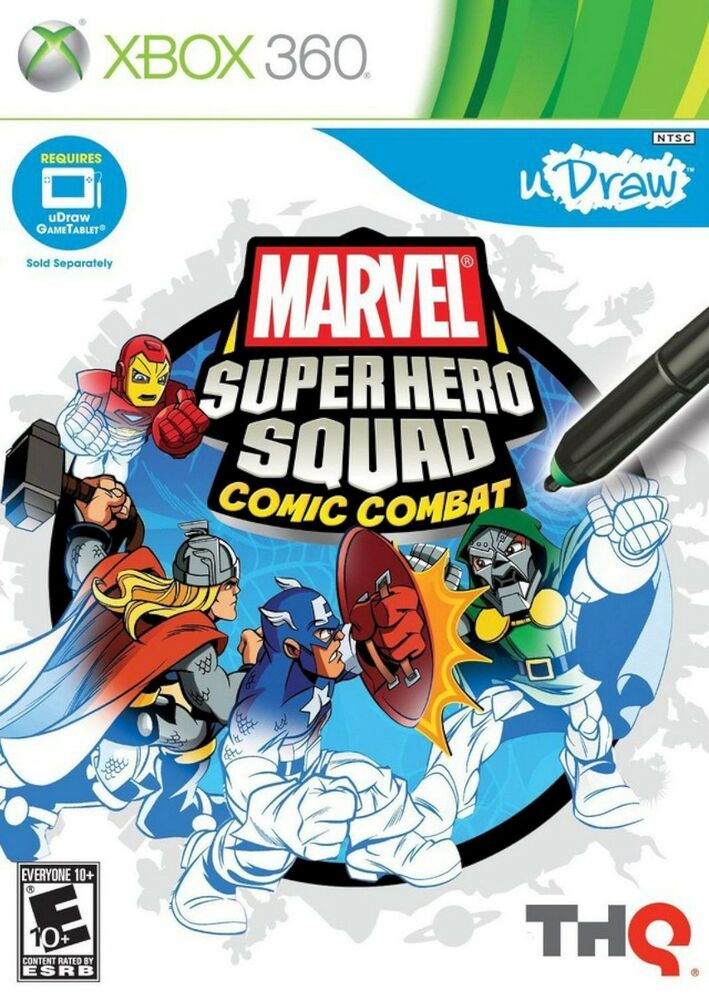 360 Marvel Super Hero Squad Comic Combat uDraw Tablet Video Game Art