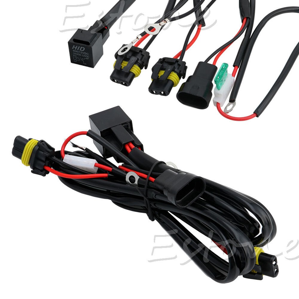 Xenon hid conversion light relay wiring harness kit h