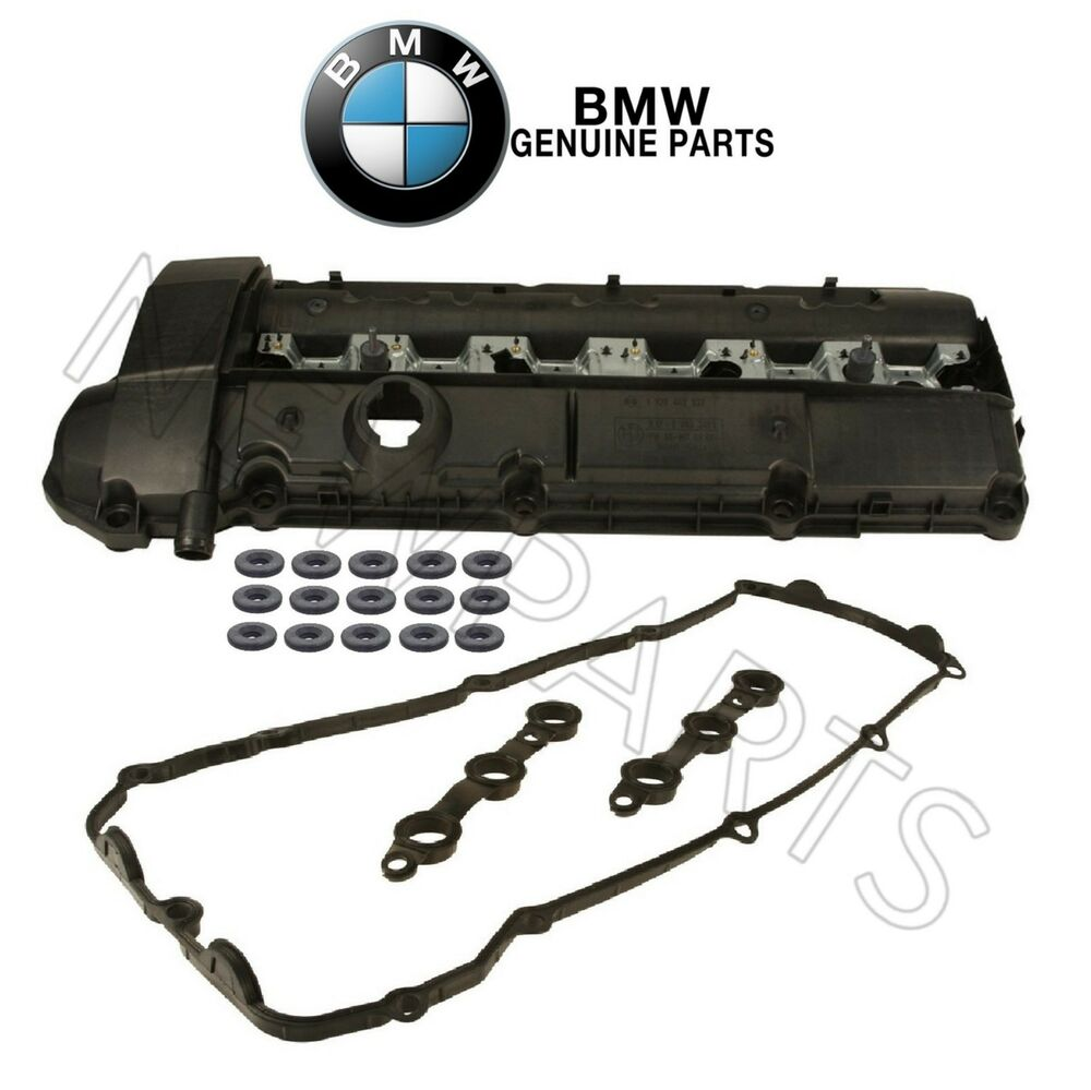 For Bmw E36 Z3 M3 328i 323i E39 528i Valve Cover With Gasket Amp Seals Genuine Ebay