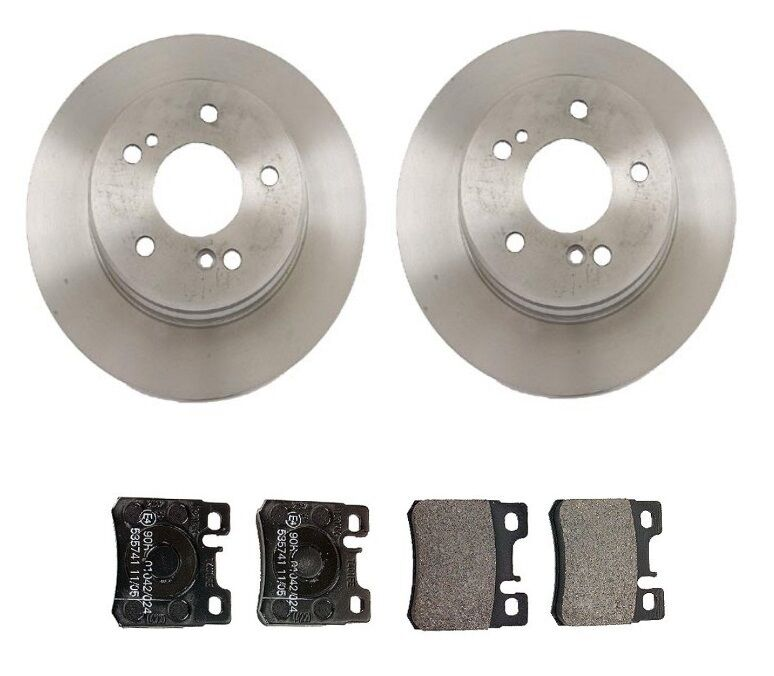 Mercedes w202 w124 300ce 300te c230 rear brake kit rotors for Mercedes benz rotors and pads