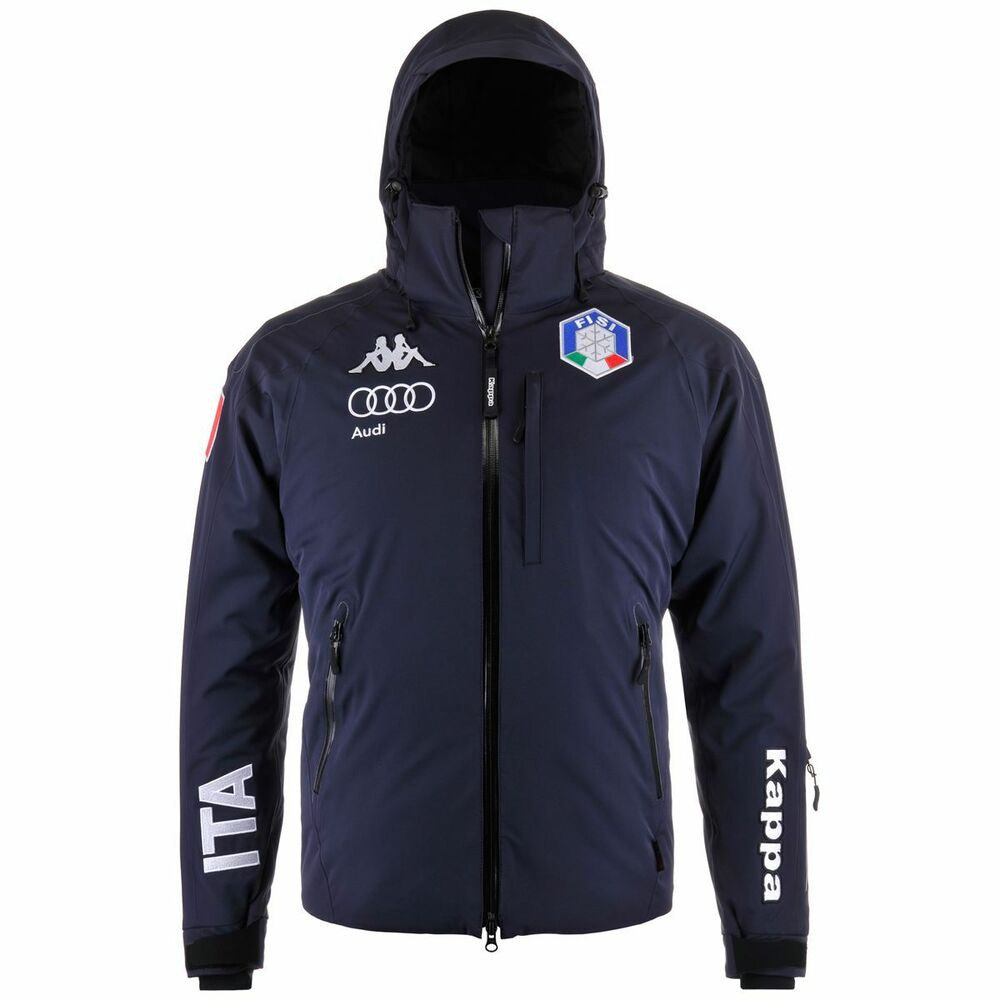 fisi 2017 kappa italia audi ski team jacket giacca 650 blue night blu 302zxl0 ebay. Black Bedroom Furniture Sets. Home Design Ideas