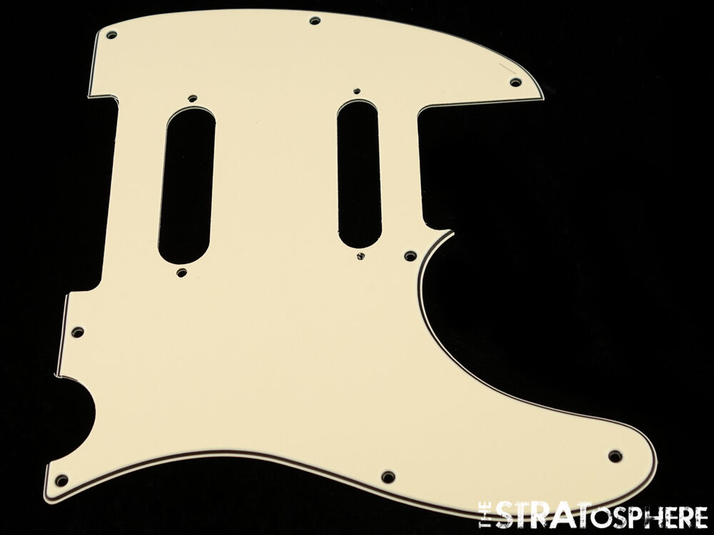 new cream nashville telecaster pickguard for fender usa tele 3 ply 8 hole ebay. Black Bedroom Furniture Sets. Home Design Ideas