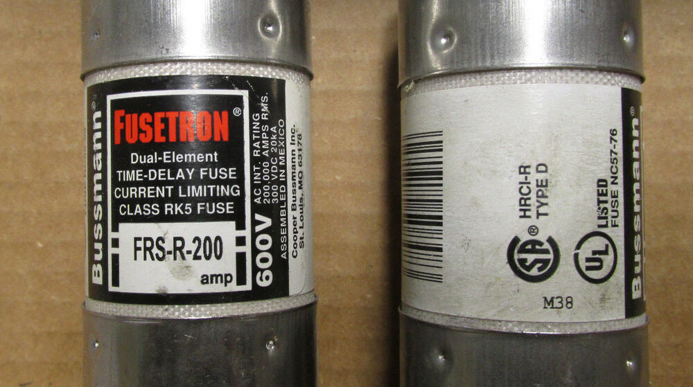 Fusetron 200 Amp Fuse 600 Volts Catalog   Frs