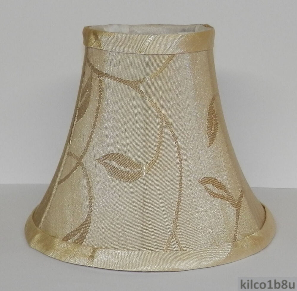 new cream swirl leaf chandelier mini lamp shade ebay. Black Bedroom Furniture Sets. Home Design Ideas