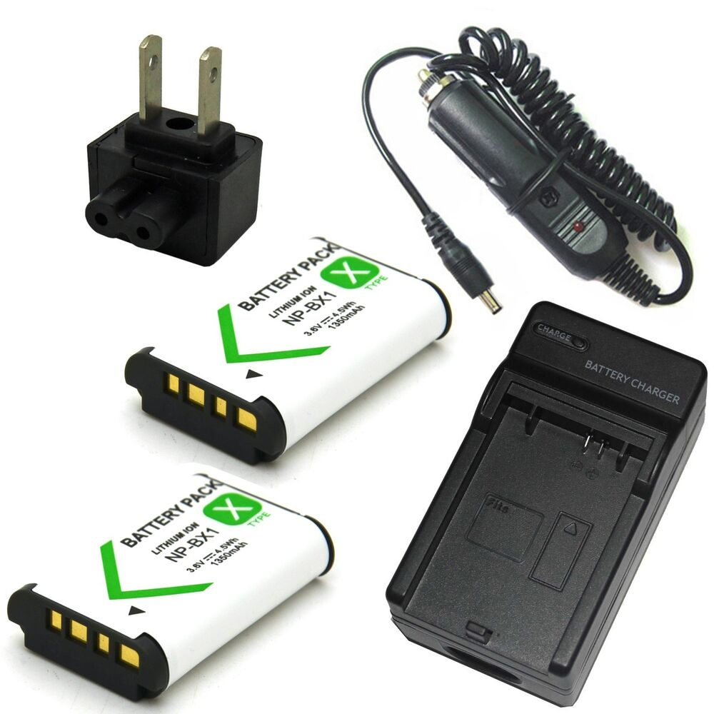 Charger 2x Battery For Sony Hdr Cx240 Hdr Cx405 Digital Hd