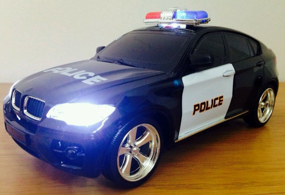 Police Car Bmw X6 Sport Radio Remote Control Car Siren Lights Fast Speed Ebay