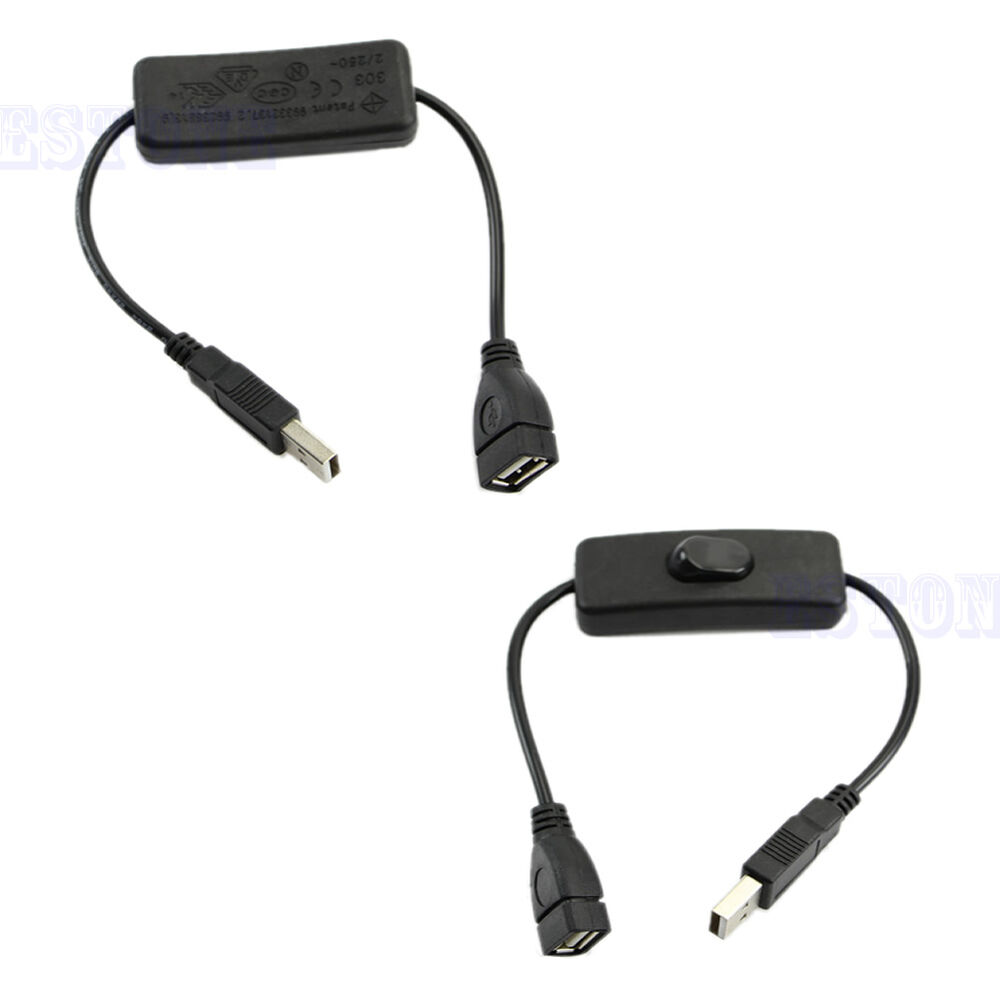Usb cable with switch power control for raspberry pi