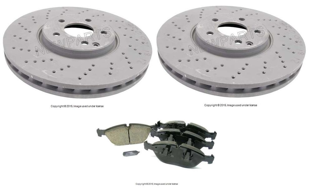 Mercedes w220 s430 s500 2003 2006 front disc brake rotors for Mercedes benz rotors and pads