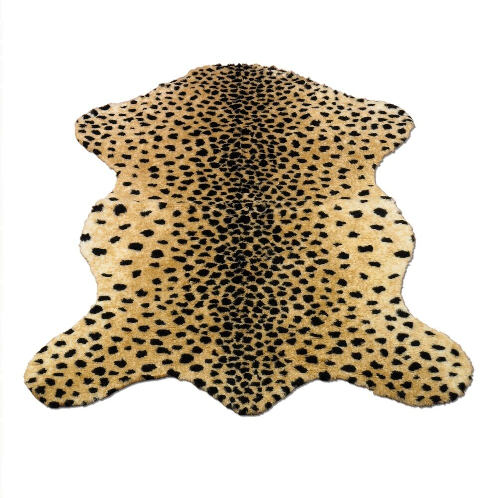 Cheetah Rug Faux Fur Animal Skin Pelt Rug 3x5 39 Quot X 55