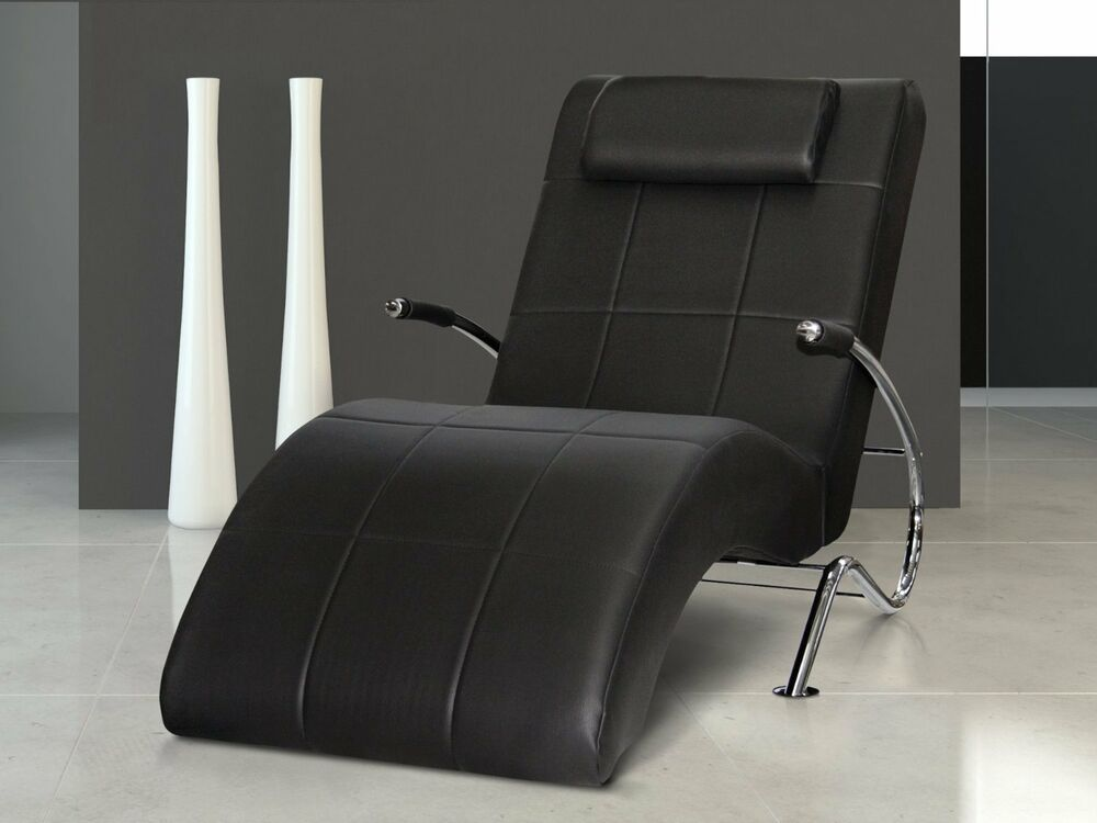 vicco enjoy relaxliege relaxsessel fernsehsessel layback pu leder schwarz ebay. Black Bedroom Furniture Sets. Home Design Ideas