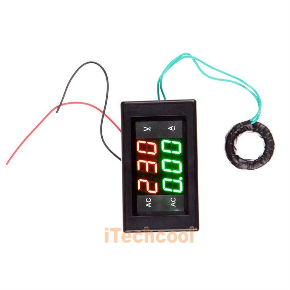 led digital volt ampere amp meter voltmeter dual panel. Black Bedroom Furniture Sets. Home Design Ideas