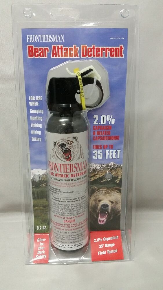 Bear Protection With Frontiersman Bear Spray: NEW Sabre Frontiersman Bear Spray 9.2oz (No Holster