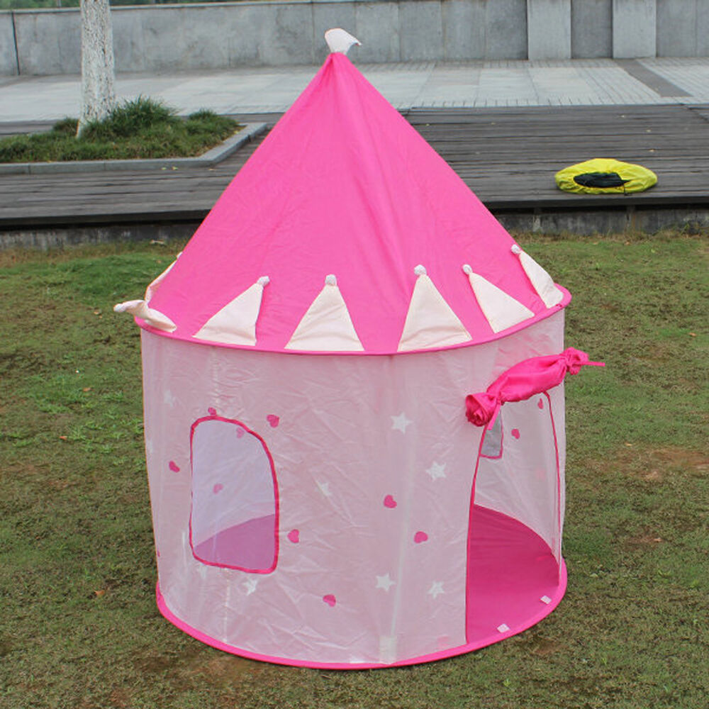 portable folding pop up play tent kids girl princess. Black Bedroom Furniture Sets. Home Design Ideas