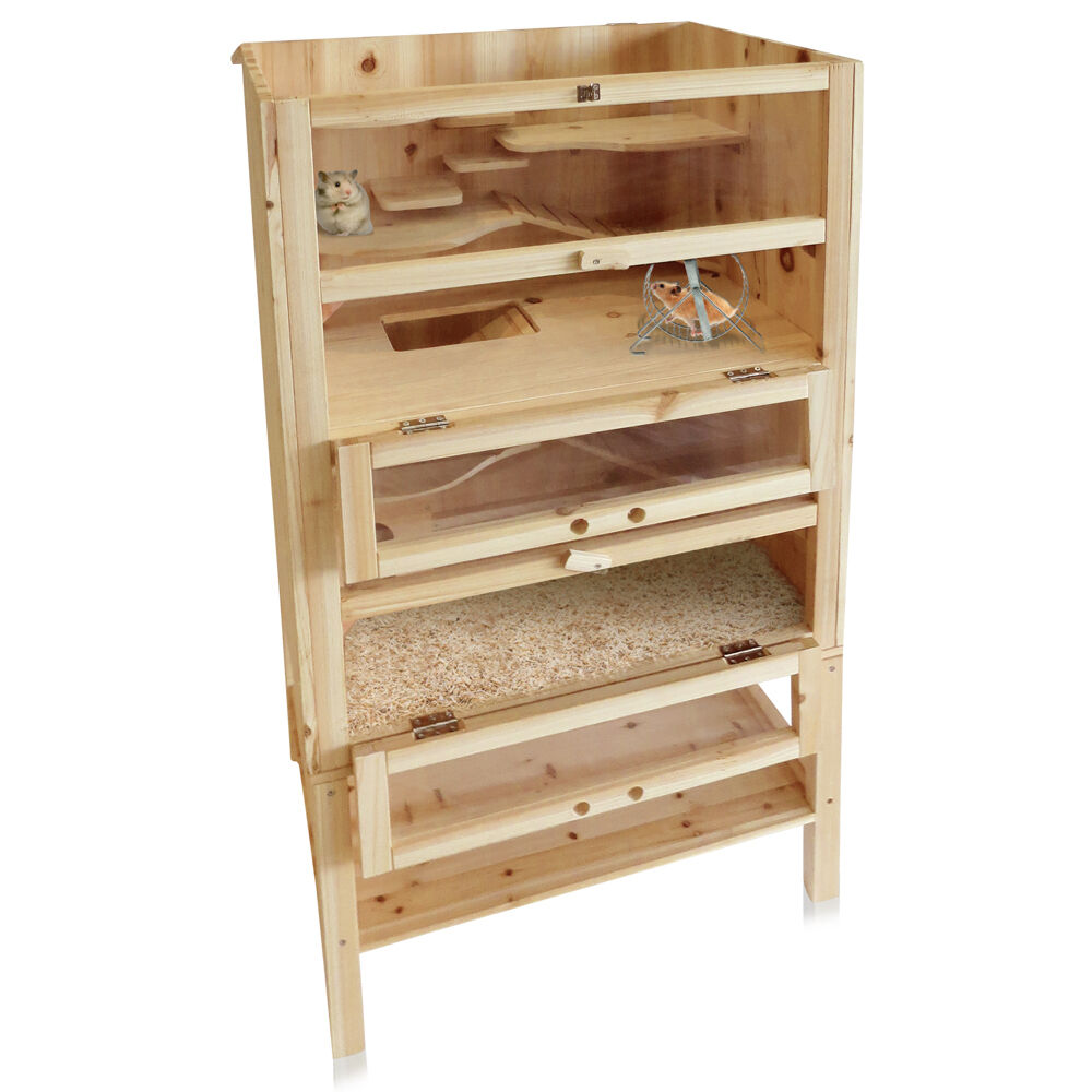 holz hamsterk fig nagerstall kleintierk fig m usek fig rattenk fig stall ebay. Black Bedroom Furniture Sets. Home Design Ideas