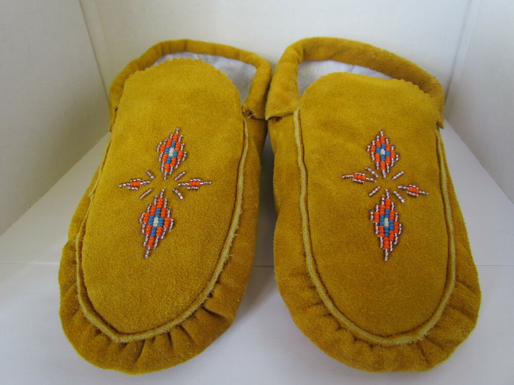 american beaded moccasins 9 5 inch made