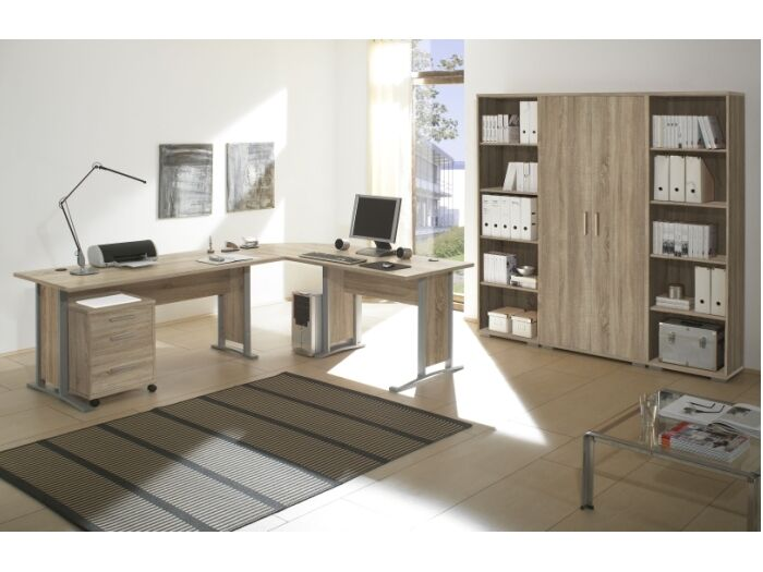 b ro office line superset sonoma b rom bel komplett schreibtisch regal 109644 ebay. Black Bedroom Furniture Sets. Home Design Ideas