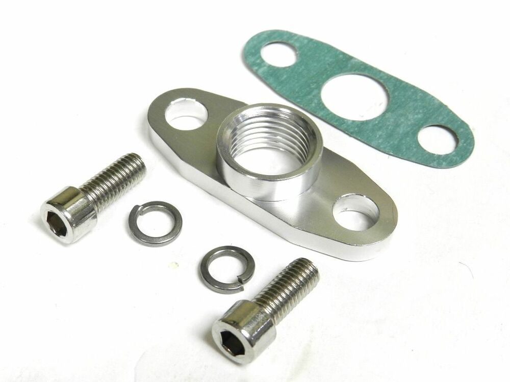 Vms turbo oil drain outlet flange gasket adapter quot npt