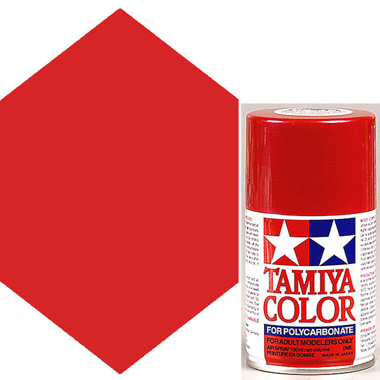 Tamiya Polycarbonate Metallic Red Spray Paint Ps 15 Ebay