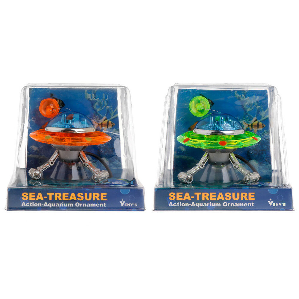 Decor ufo aquarium action air effect decoration underwater for Aquarium airplane decoration