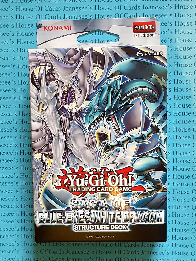 Card Deck With Guidebook By: Yu-gi-oh Saga Of Blue-Eyes White Dragon Structure Deck 1st