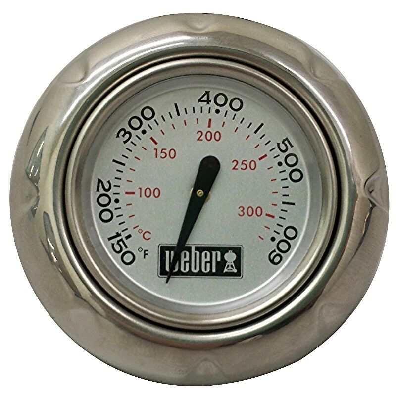 weber q replacement thermometer and bezel kit ebay. Black Bedroom Furniture Sets. Home Design Ideas