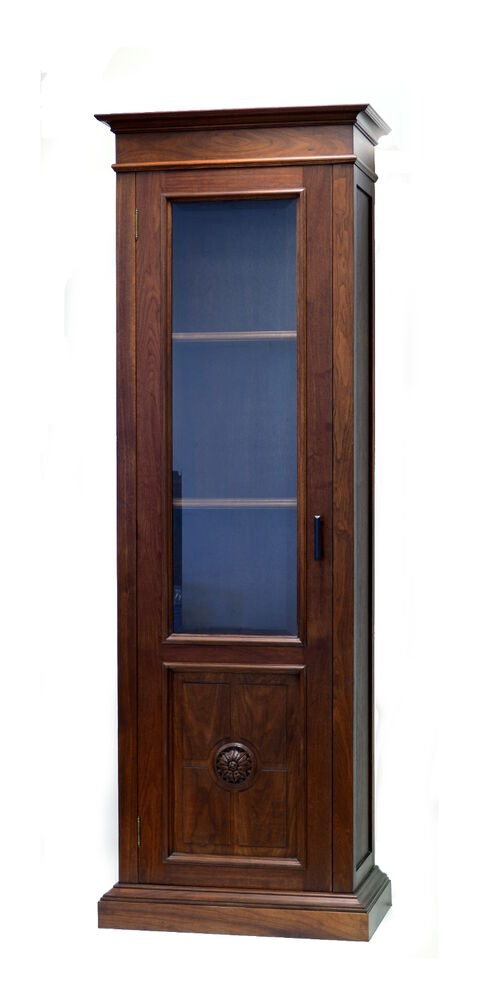 2930 old world french style single door cabinet display