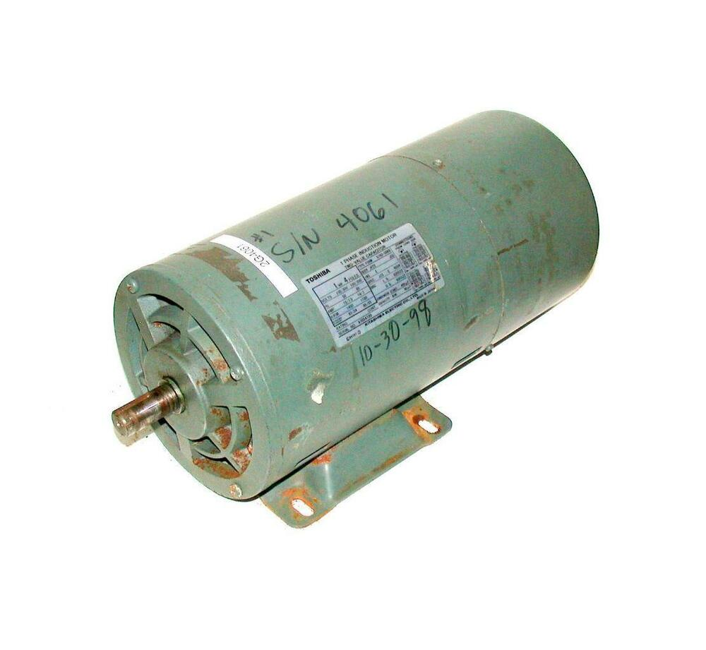Toshiba single phase induction motor 2 value capacitor 1 for 1 2 hp induction motor