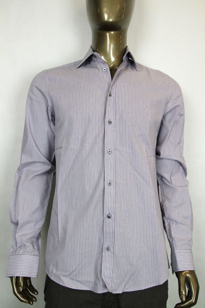 New gucci mens fitted button down dress shirt light purple Light purple dress shirt men