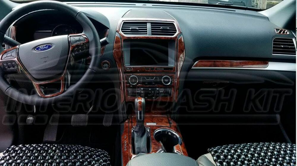 Ford Explorer Xlt Lmtd Interior Wood Dash Trim Kit Set 2011 2012 2013 2014 2015 Ebay
