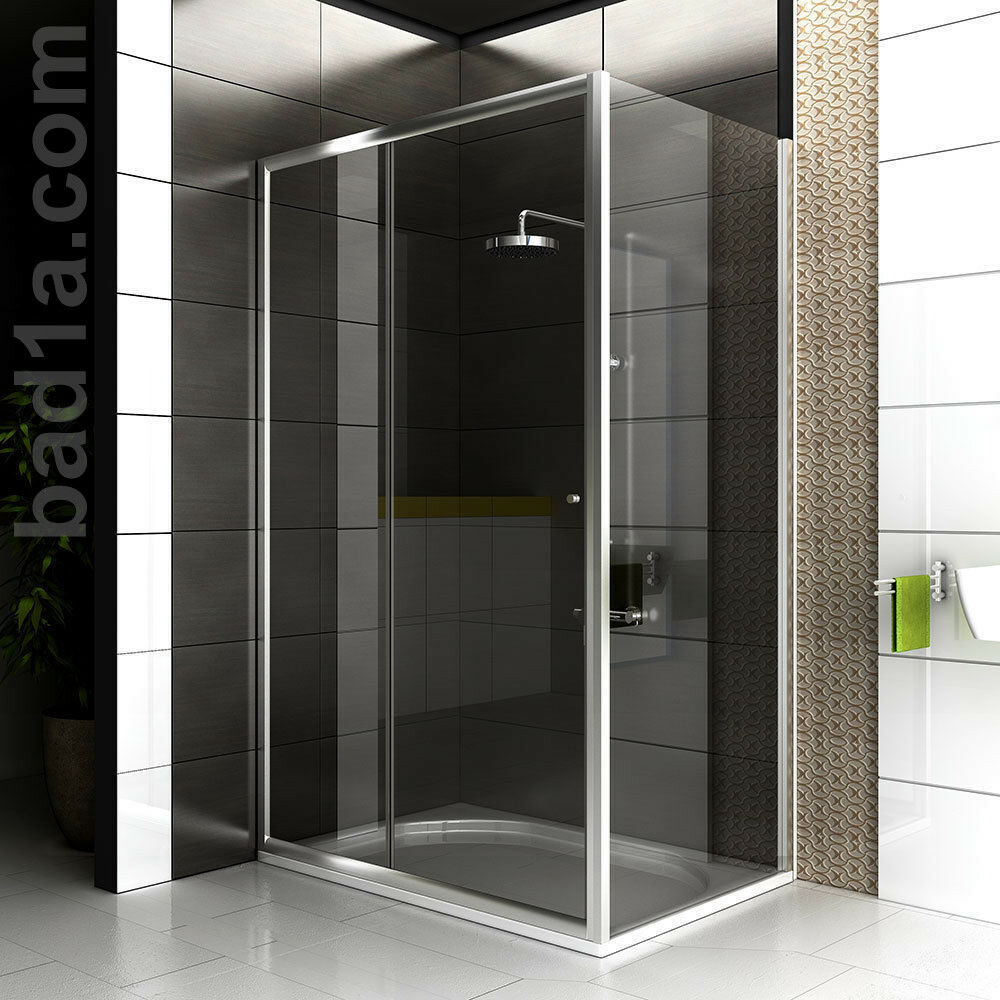 alpenberger duschwand duschabtrennung echtglas duschkabine 120x90 dusche eckig ebay. Black Bedroom Furniture Sets. Home Design Ideas