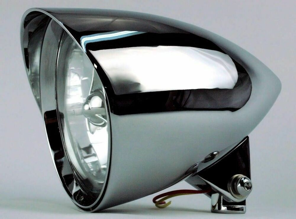 S L on Harley Softail Headlight
