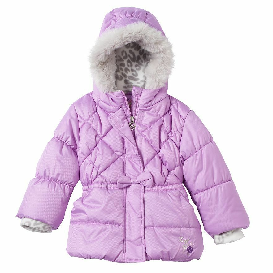 Nwt Toddler Girls Zeroxposur 80 Quilted Puffer Winter