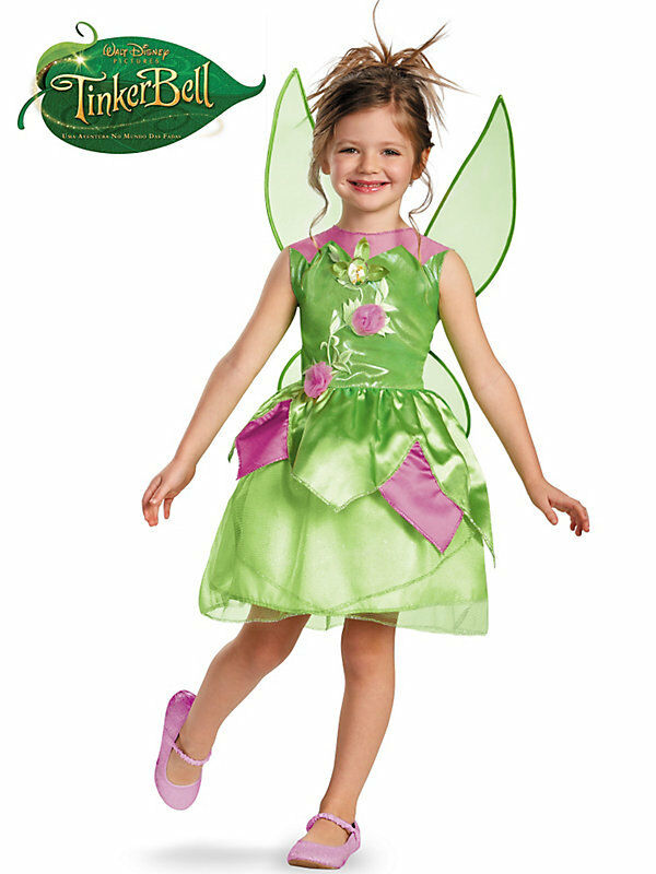 New Disney Tinkerbell Fairies Deluxe Costume Dress Up